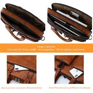 Image 5 - Jeep buluo marca homem maleta de grande capacidade de couro casual bolsa de ombro para homens portátil sacos de negócios bolsas high end novo