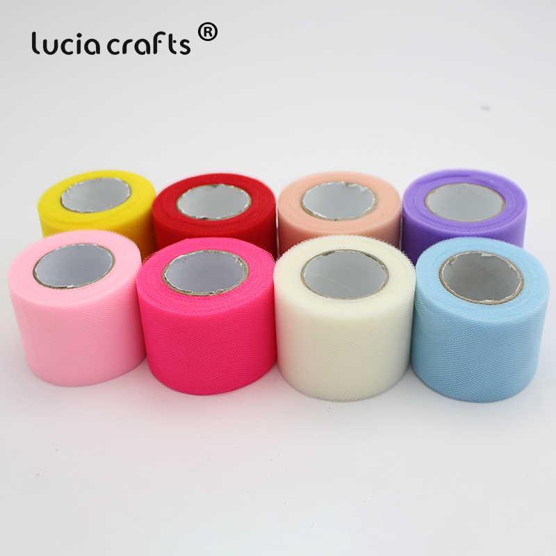 1 рулон/партия, 25 ярдов 5 см разноцветный вариант органза шифон тюль рулон катушки шитье свадебное украшение из ткани материал W0750