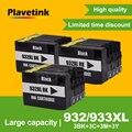 Заправленный чернильный картридж Plavetink совместим с HP 932 933 932XL 933XL Officejet 6100 6600 6700 7110 7610 7612 7510 7512
