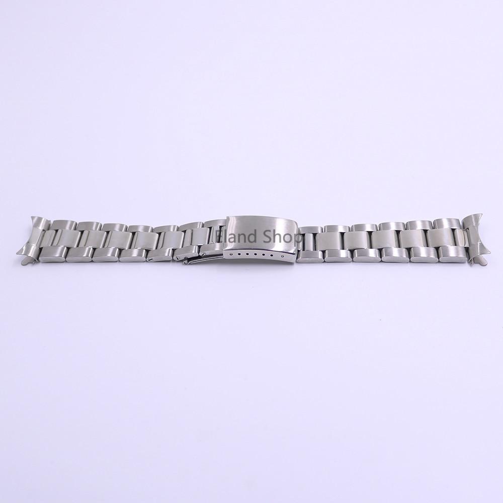 CARLYWET 19 20mm Rustfrit stål Sølv Mellem polsk Hult buet ende - Tilbehør til ure - Foto 2