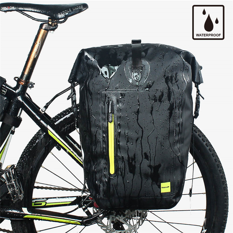 цена на Hot sale 25L Cycling Bike Bags MTB Bike Rear Rack Bag Full Waterproof Multifunction Road Bicycle Panniers Rear Seat Saddlebags