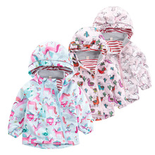 Windproof Waterproof Fashion Hooded Cotton Child Coat Baby Boys Jackets Printed Children Outerwear For Height of 80-130cm