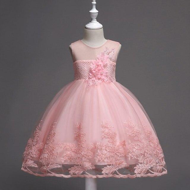 8efb142569909 Luksusowe Koronki Flower Girl Dress Aplikacja Dziecko Wedding Party Prom  Suknia Baleriny Piękna Dziewczyna Sukienka Perła