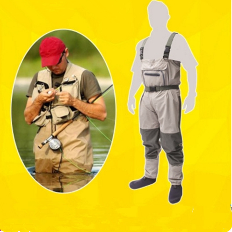 Здесь можно купить  1.4kg hot sale super light  men women breathable waterproof elastic chest overalls fishing suspenders pants Siamese trousers  Спорт и развлечения