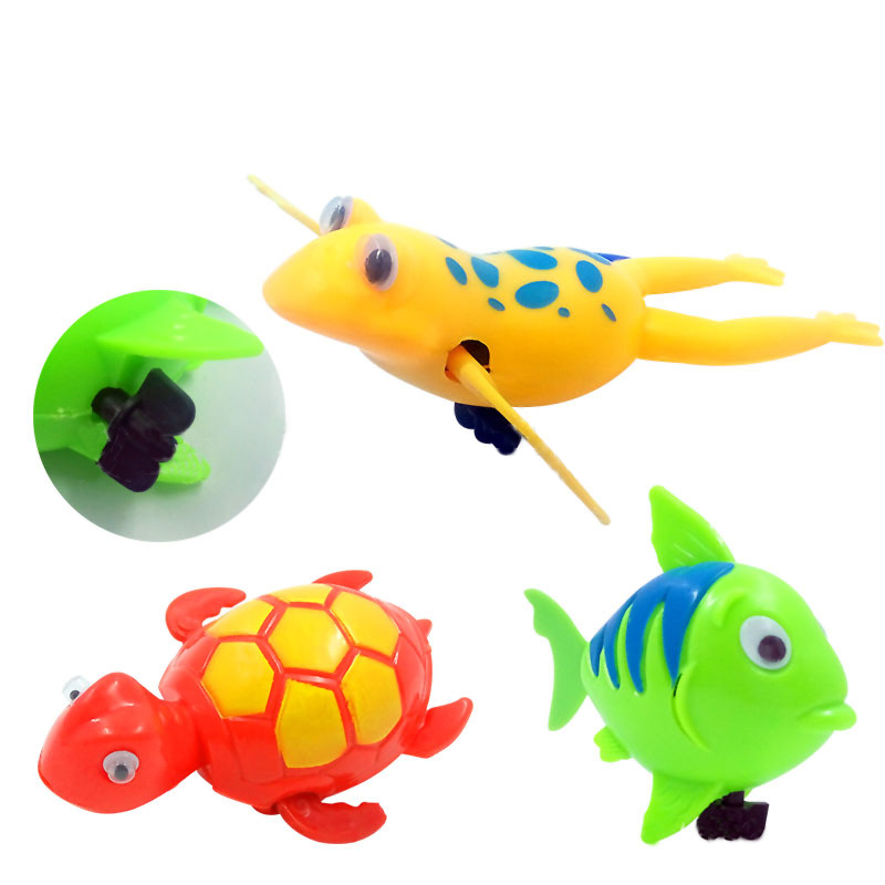 Baby Bath Pool Swimming Turtle Animal Toy Wind-up For Children Kids Water Toys