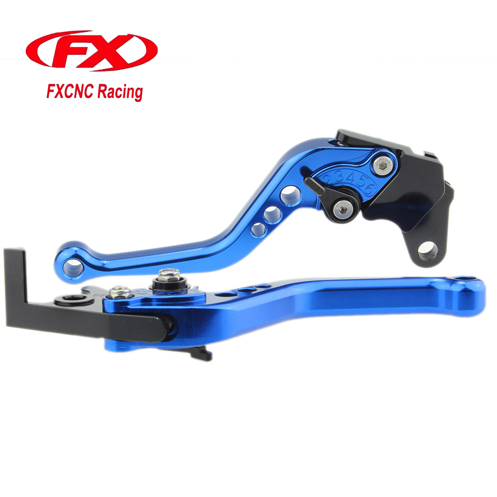 FXCNC Aluminum Adjustable Motorcycle Brake Clutch Lever For Yamaha DT 125 DT125 YBR 125 250 FAZER XTZ750 Super Tenere Moto Brake стоимость
