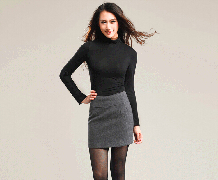 Aliexpress.com : Buy Winter Women Wool Thick Tight Pencil Skirt ...