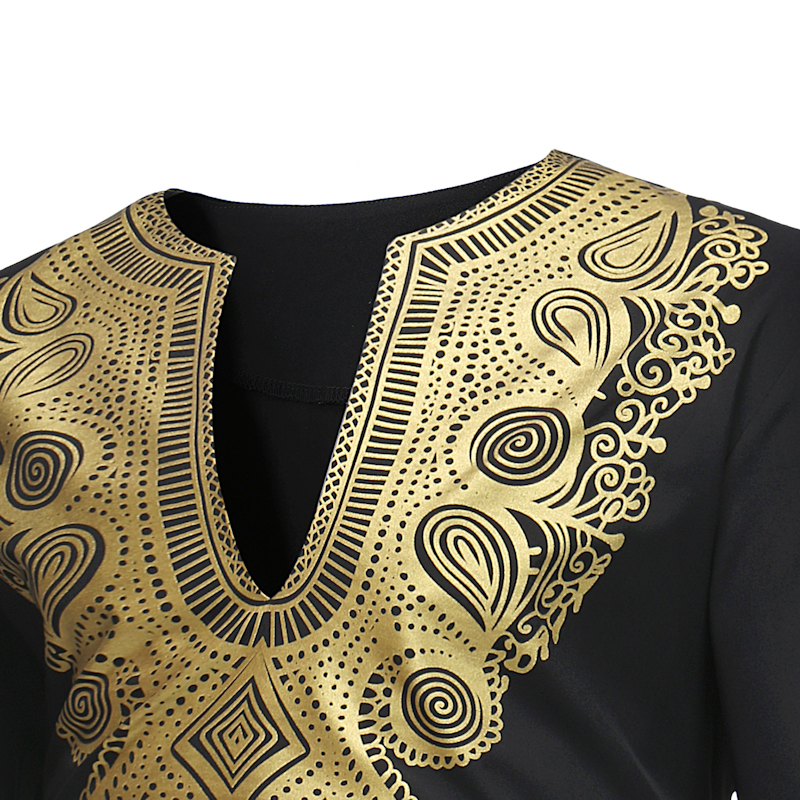 Hot 2018 Spring Men's T-shirt Tops Casual Fashion Ethnic Print Long-sleeved T-shirt Wholesale Men's Clothing (1)