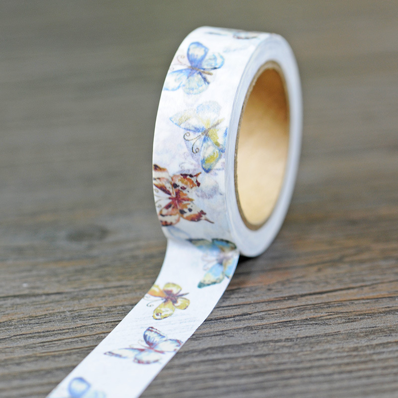 Free Shipping Lovely 15mm*10m  Washi Paper  Tape/color Butterfly  Masking  Japan Washi Tape