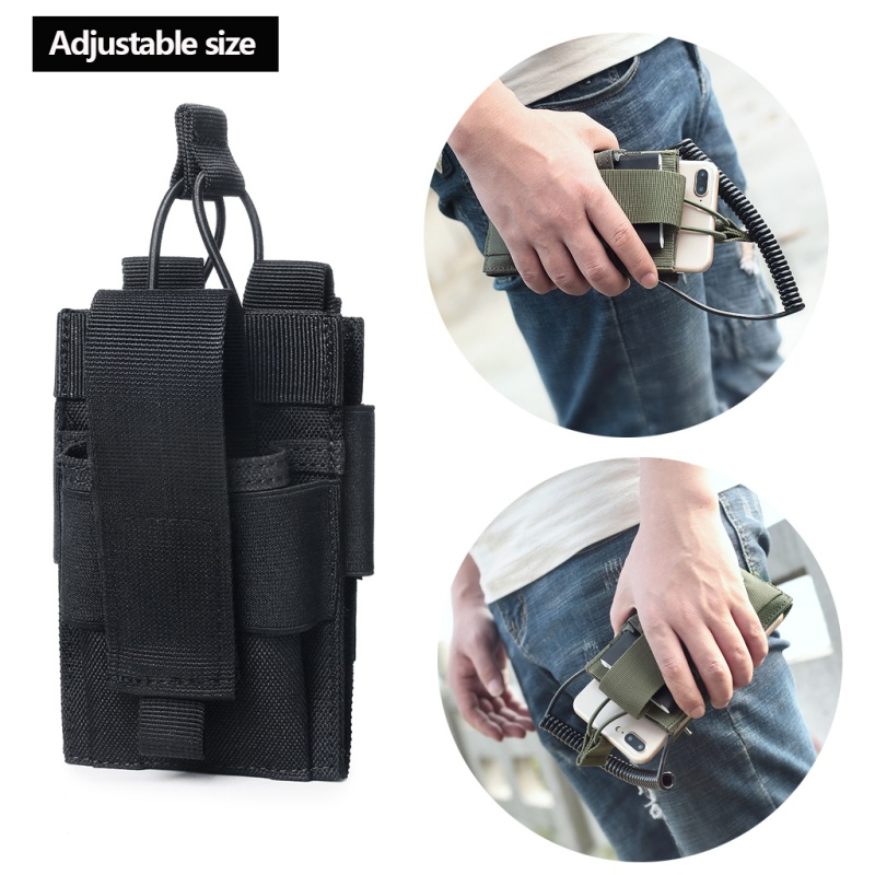 Tactical Sport Military Molle Nylon Radio Walkie Talkie Holder Bag Pouch