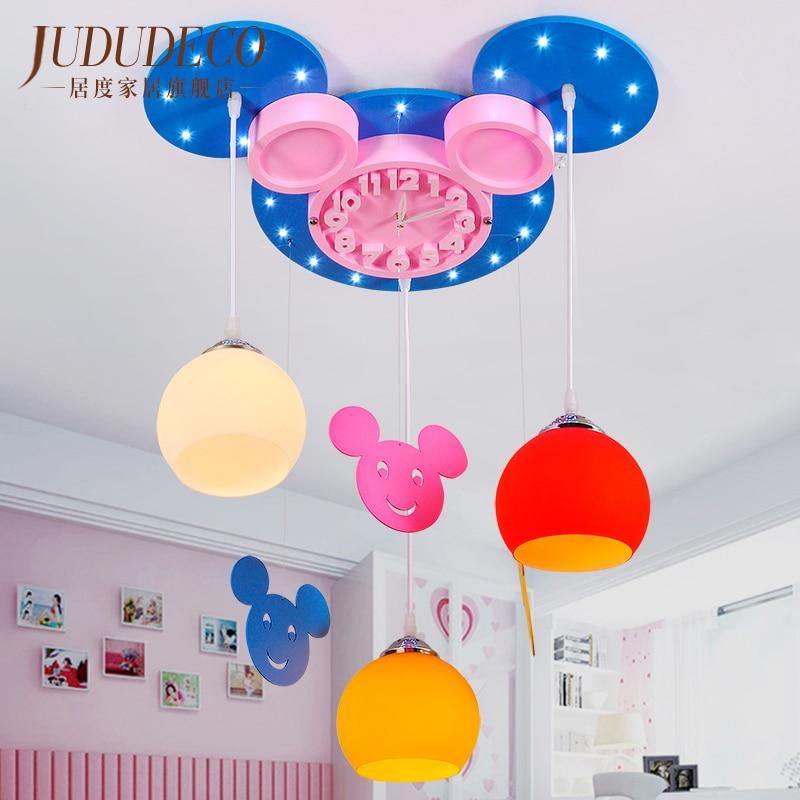 Children Room Modern Creative Cartoon Pendant Light nordic Bedroom LED Kid Room Study Hanging Lamp Home