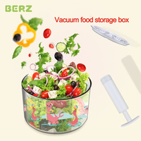 BERZ Baby Food Storage box vacuum Sealed Crisper Set Kitchen formula container freezer feeding stuff Moistureproof snack box Kid