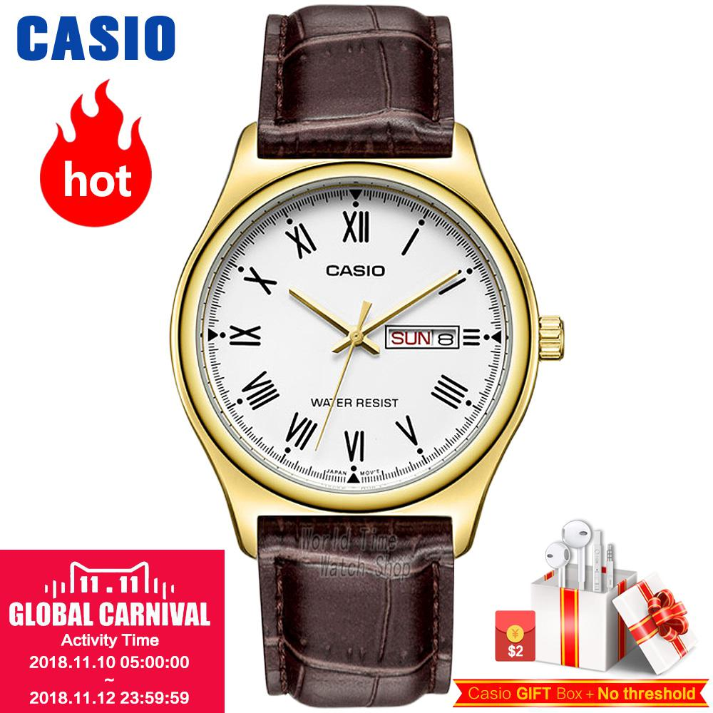 цена на Casio watch male Casio simple fashion waterproof casual business quartz men's watch MTP-V006GL-7B