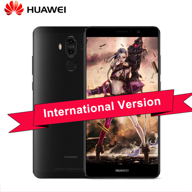 Original Huawei Mate 9 5.9 inch 2 Back Cameras 20.0MP+12.0MP Android 7.0 Mobile Phone Kirin 960 Octa Core 6GB RAM 128GB ROM