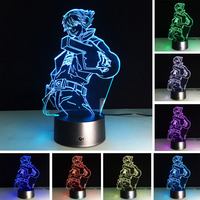 Creative Superman 3D Glow Disco Table Lamp Atmosphere Lampada 7 Color Change Night Light Home Child
