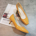 New Summer Retro Womans Square Toe Shallow mouth Low Heel Shoes OL Casual Heels
