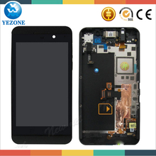 OEM Cell Phone Parts New Black Color LCD Display With Frame Touch Screen Digitizer Assembly For Blackberry Z10 4G LCD Screen