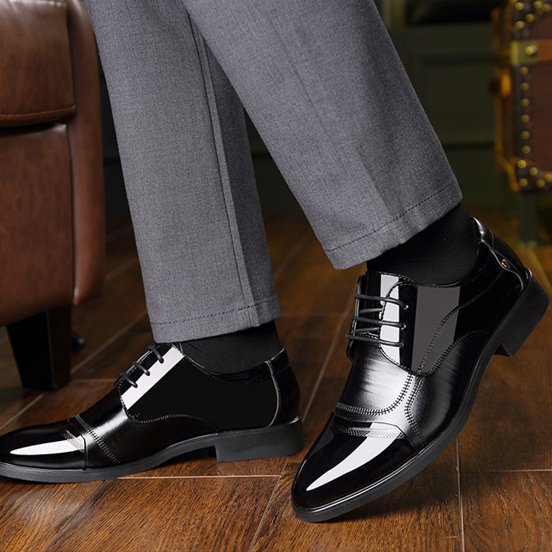 NPEZKGC Fashion lederen mannen Oxford schoenen, Lace Up Casual - Herenschoenen - Foto 4