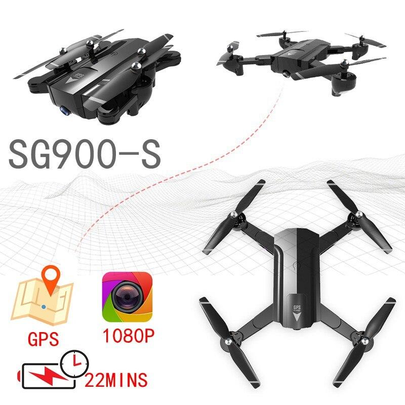 GPS Drone Avec Caméra Hd 1080 p Caméra Drone Rc Quadricoptère Fpv Suivi Automatique Hélicoptère Volant Sg900 Sg900s Selfie Drone