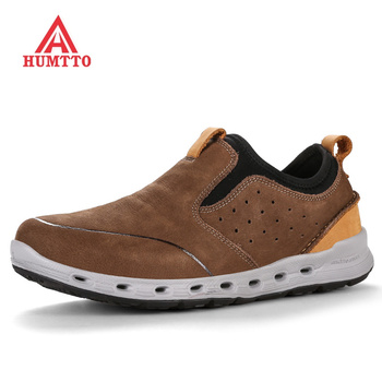 Winter Profession Waterproof Camping Hiking Shoes Men Genuine Leather Trekking Mountain Sneakers Outdoor Hunting Walking Shoes