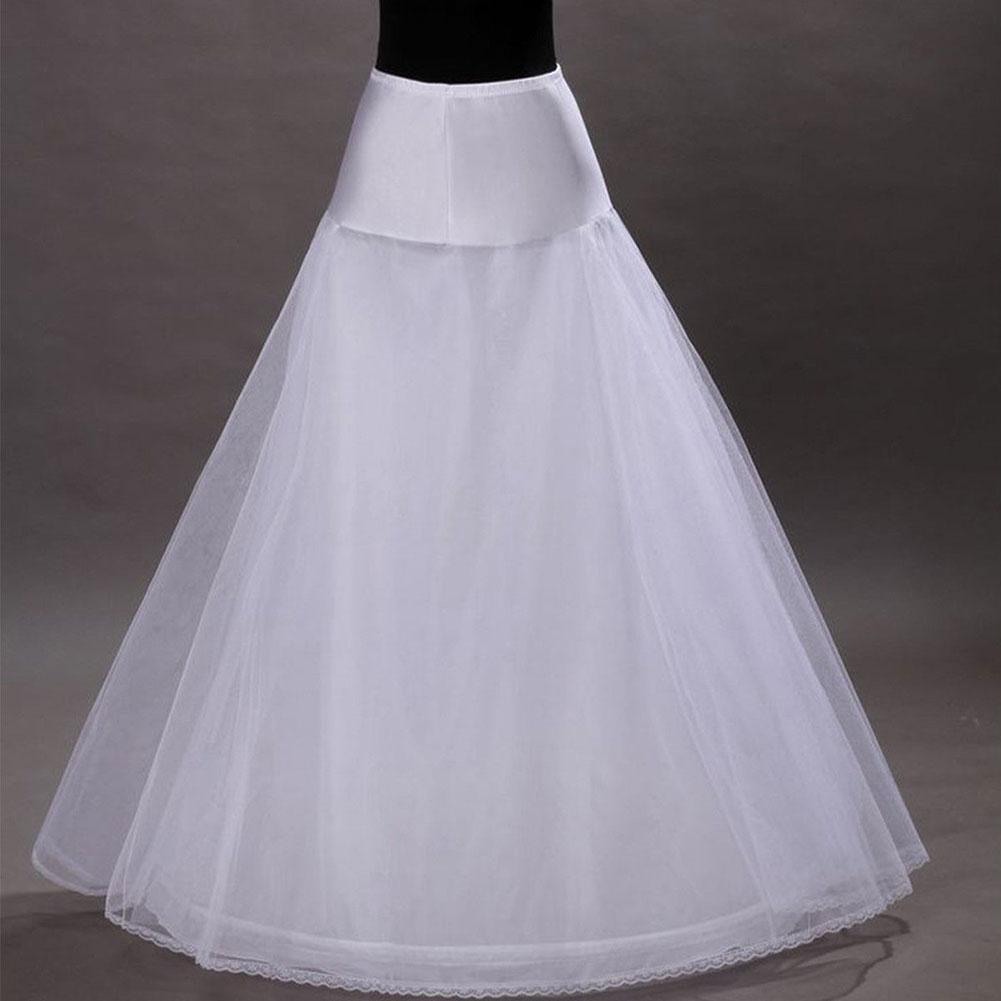Fashion 1 Hoop 2 Tier Voile Bridal Wedding Crinoline Petticoat Bride Underskirt Gauze Skirt HSJ88