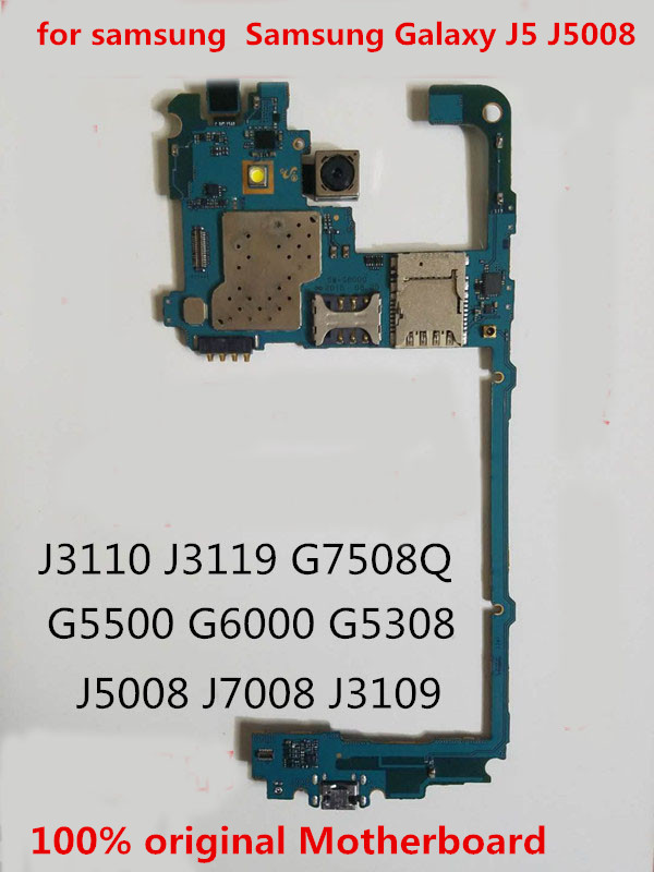 GIFT+TOOLFull Working 100%Original Unlocked For Samsung Galaxy J5 J5008  Motherboard Logic Mother Circuit Board Plate
