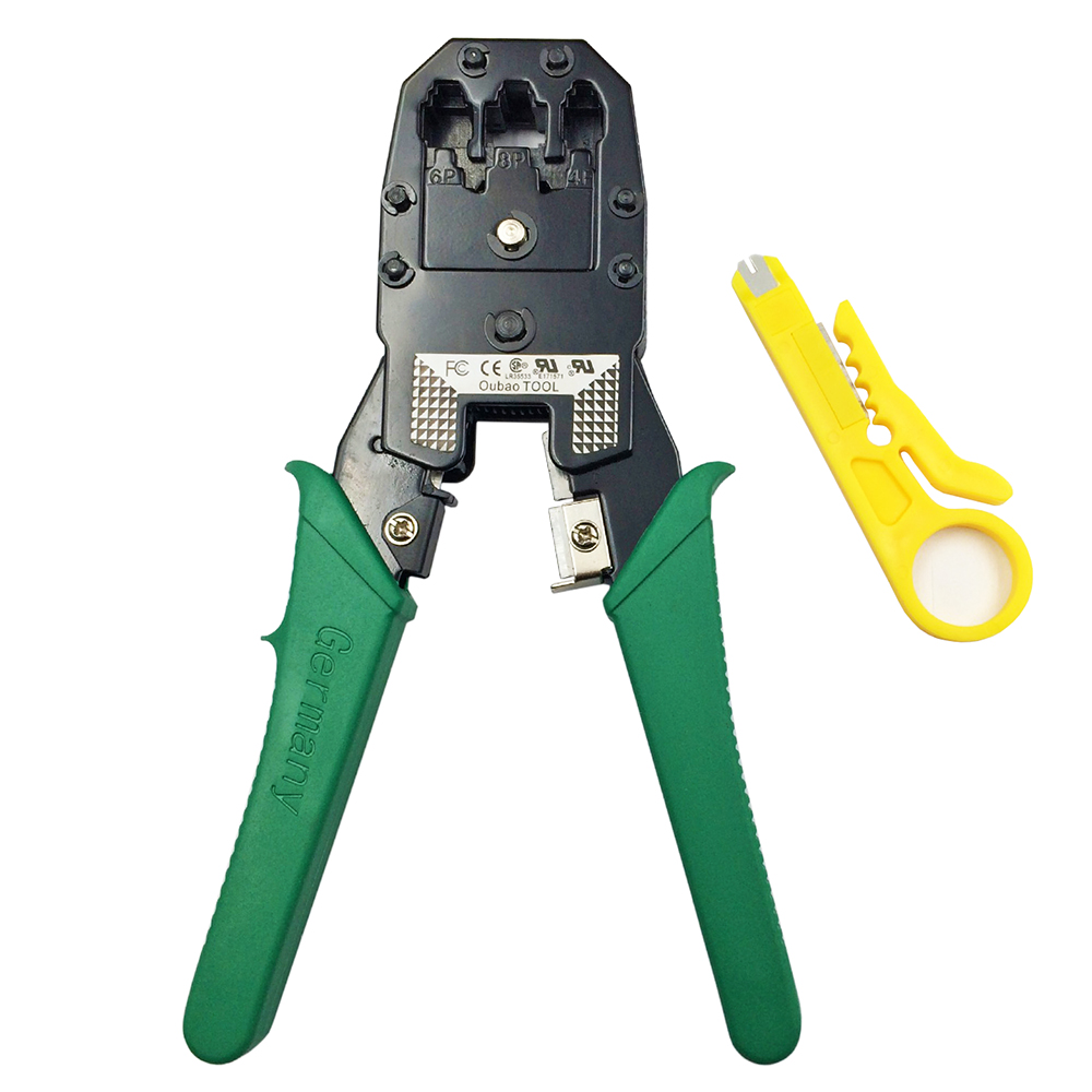 Multi Wire Cable Crimper PC Network Hand Tools LAN Cable Crimping Plier Clamp Tool 3 in 1 Stripper for 8P8C 6P2C-4C-6C 4P4C TL15