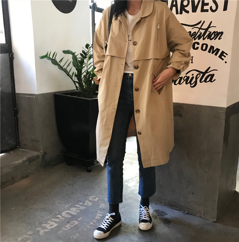 2019 Autumn New High Fashion Woman Classic Single Breasted   Trench   Coat Waterproof Raincoat Business Outerwear