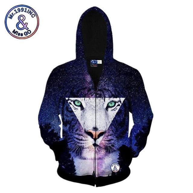Animal tigre león 3D estampado espacio galaxia sudadera jerseys mujeres  hombres manga larga Outweat sudaderas Casual 98dbedce4ac