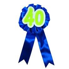 19 Colors of 40 brooch ribbon flower badge adult women man birthday celeration b