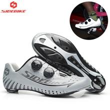 Sidebike 3 м Reflectiv карбоновая Ультралегкая велосипедная обувь с самофиксацией гоночный велосипед обувь шоссейный велосипед спортивная обувь для верховой езды Ciclismo