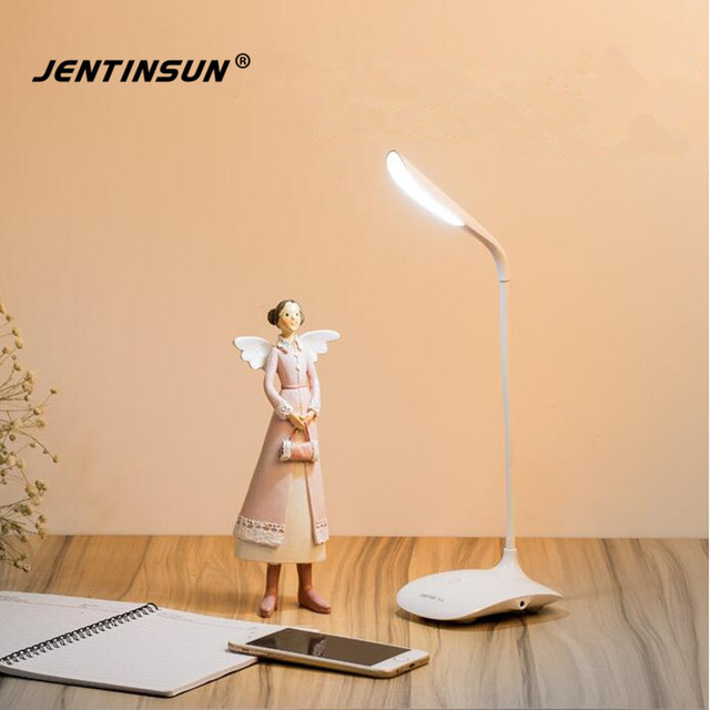 Foldable Rechargeable Usb Led Table Lamp White Light Desk Lamps