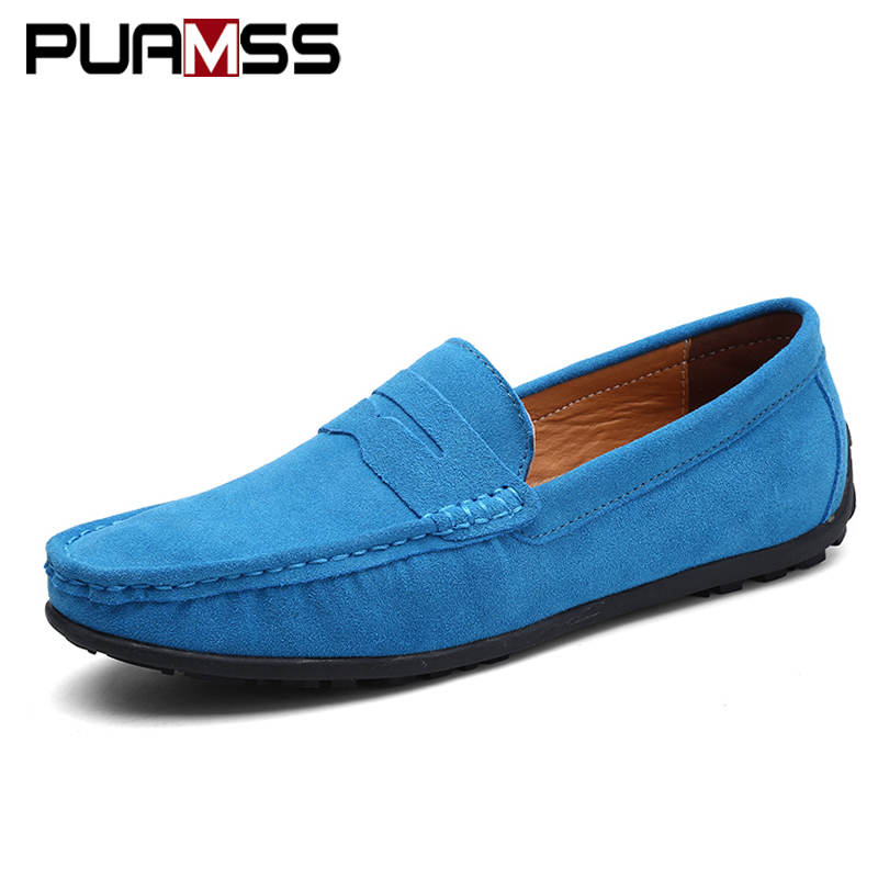 Men Casual Shoes Suede Leather Loafers 2018 New White Solid Leather Driving Shoes Loafers Men Shoes Male Flats Big Size Sneakers new mens shoes casual black sneakers leather shoes men loafers white platform driving shoes for men trainers chaussures hommes