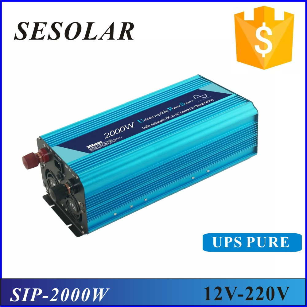 12v 220v 2000w UPS pure sine wave inverter with charger