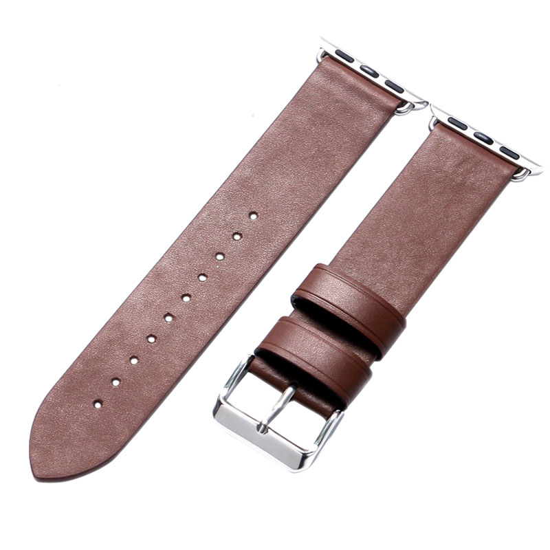 38MM/42MM Brown Color Leather Apple Watch Strap Band For Apple Smart Watches Free Shipping