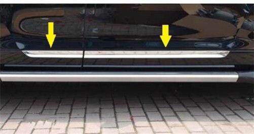 Stainless steel Body door Side Molding Trim Chrome FOR Toyota Highlander 2008 2010