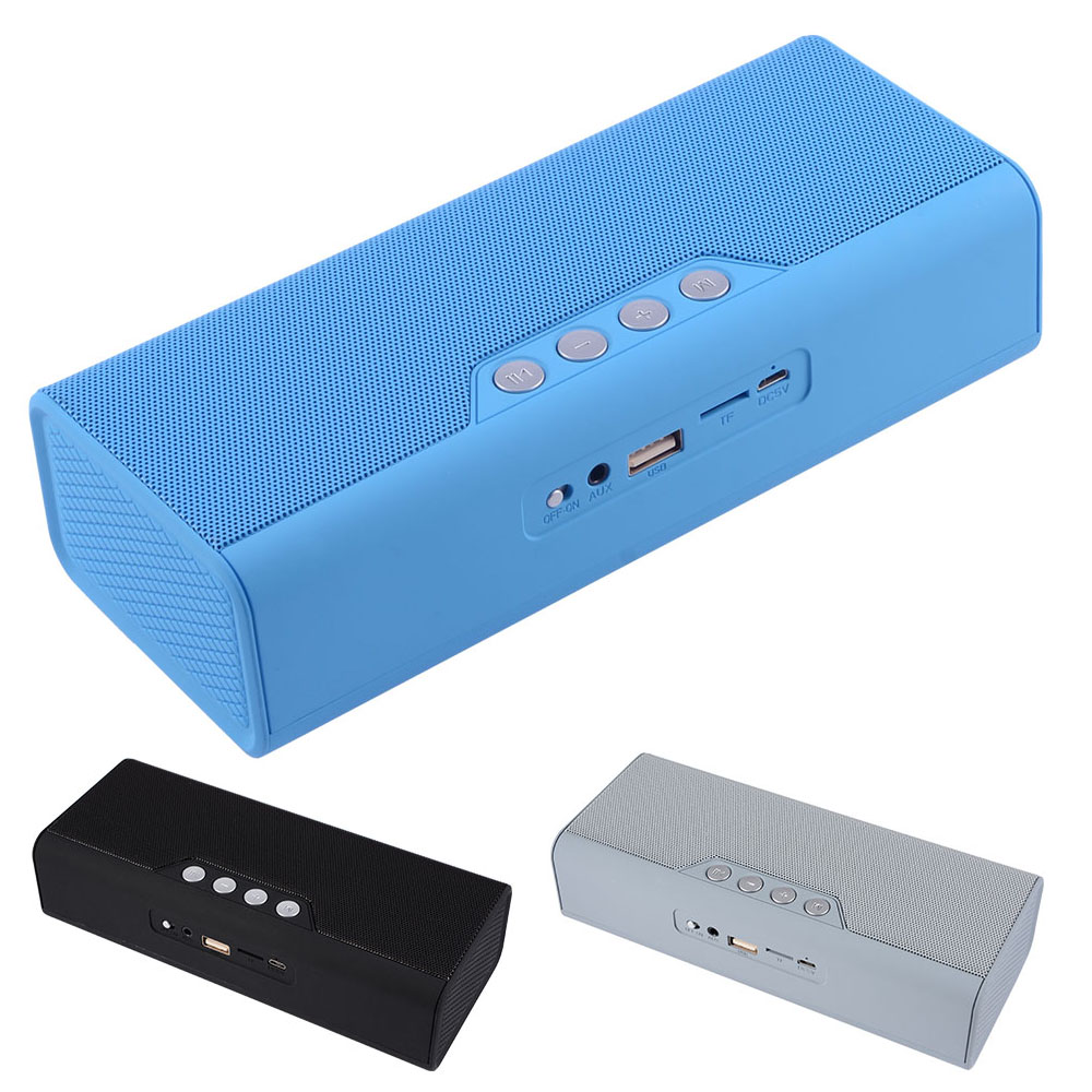 Portable Bluetooth Speaker with FM Radio Wireless Music Player Phone Charger AUX Line-in USB Flash Drive TF Card Audio Function portable wireless bluetooth speaker magic light fm usb micro sd function