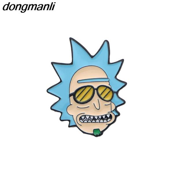 a5500480812d8 US $2.49 |P1305 Dongmanli Hot Rick And Morty Pin Rick And Moti Pins  Cucumber With Badge Brooch Broche For Neckline Chest Pocket Brooches-in  Brooches ...