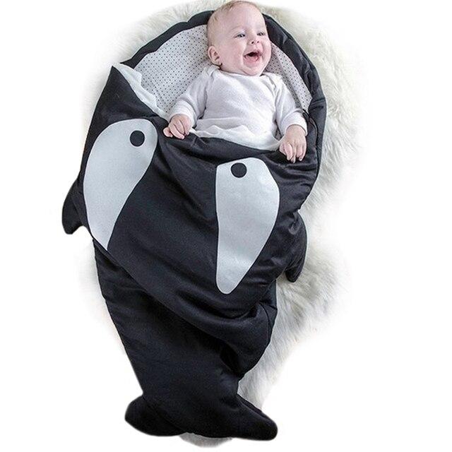 1Pcs Colorful Cute Shark Bites Baby Sleeping Bags Newborn Toddler Kids Infant Winter Sleep Sacks Soft Swaddling Blanket Bed Wrap