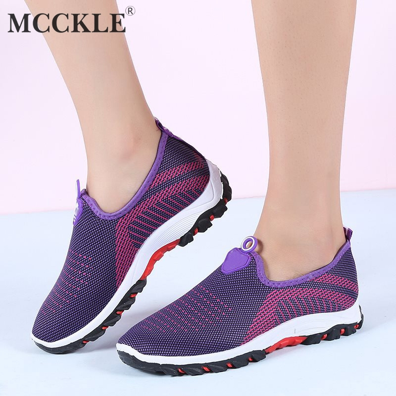 MCCKLE Autumn Vulcanized Shoes Platform Women Sneakers Fashion Strip Slip On Flat Shoe Casual Female Footwear For Student mcckle female flat shoes women cut outs autumn espadrilles fashion flock buckle strap sewing flats casual solid footwear shoe