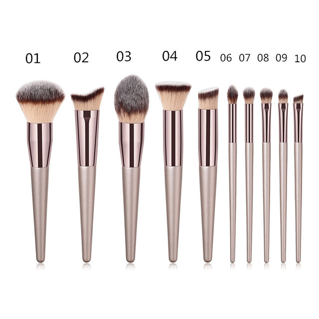 1PC Foundation Makeup Brush Coffee Handle Professional Facial Powder Eyeshadow Blush Eyebrow Lip Brush Large Soft Cosmetic Brush
