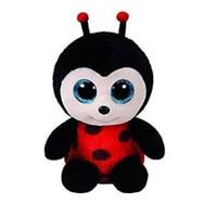 15cm Ty PONIES Beanie Boos Yokai Kunai Big Eyes Plush Stuffed Doll Toys Red And Black