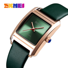 SKMEI Frauen Uhren Leder Damen Uhr Quarz Top Marke Luxus Mode Wasserdichte Uhr Weibliche Uhr Frauen Relogio Feminino