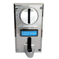 Multi Coin Acceptor Electronic Roll Down Coin Acceptor Selector Mechanism Vending Machine Mech Arcade Game Ticket Redemption Set