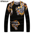 2016 Hot selling high quality  Autumn sweater O-Neck Pullover Mens Sweaters Knitwear brand clothing  T6016