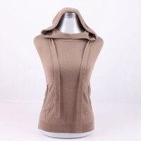 large size 100% goat cashmere knit women hoodies sweatshirt pullover irregular length open hem S/90 5XL/125 retail wholesale