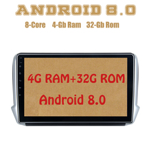 Восьмиядерный PX5 Android 8,0 автомобильный проигрыватель с радио и GPS для peugeot 208 2008 с 4G Оперативная память 32G Встроенная память Wi-Fi 4g usb Auto стерео Multimed