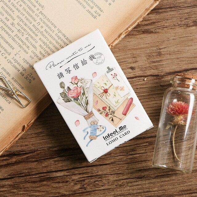 28 sheetsset flower write to me mini lomo postcardgreeting card 28 sheetsset flower write to me mini lomo postcardgreeting cardbirthday m4hsunfo
