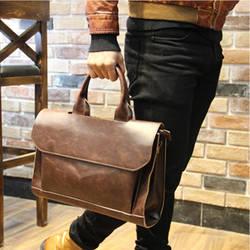Для мужчин Портфели s 2019 Лидер продаж портфель из ПУ-кожи Crazy Horse кожа сумка модный портфель MX004