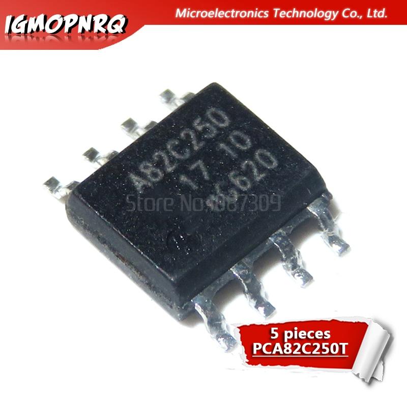 5pcs PCA82C251T PCA82C251 A82C251 peut émetteur-récepteur SOP-8